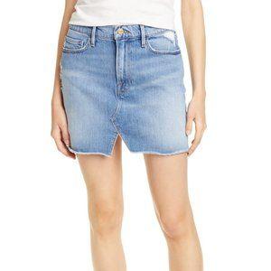 Frame Le Mini Skirt Split Front Size 27